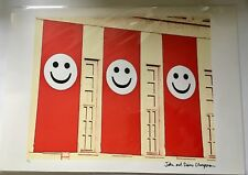 JAKE & DINOS CHAPMAN SIGNED NUMBERED LIMIITED EDITION PRINT 39/50 SMILEY FACES!