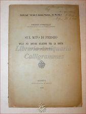 Strazzulla, MITO PERSEO nelle RELAZIONI GRECIA E ORIENTE CLASSICO 1906 Messina