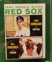 1964 TOPPS #287 RED SOX ROOKIE STARS TONY CONIGLIARO BILL SPANSWICK