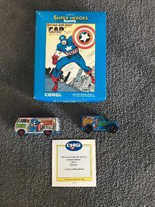 Corgi Super Heroes Marvel Captain America Ltd Edt Diecast Models VW & Ford Vans