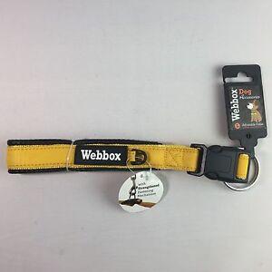 Webbox Adjustable Large Dog Collar - 50cm to 57cm - Yellow & Black