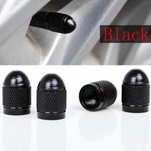 4x Universal Black Bullet Shaped Auto Car Motorcycle Wheel Tire Valve Cap Seal