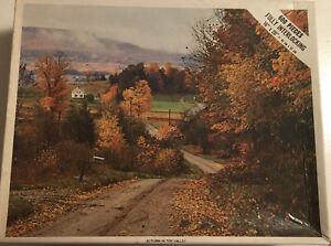 """Vintage Whitman Puzzle 600 Pieces Autumn in the Valley 4648-1 16""""x20"""" Complete"""