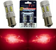 LED Light 80W 1156 Red Two Bulbs Stop Brake Rear Replace Upgrade Lamp Fit OE JDM