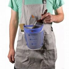Pouch Painter Hands-Free Break/Spill Resistant Bucket Apron Holds Paint Brushes