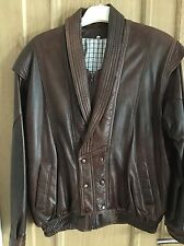 Men's Brown Leather Winter Weight Jacket Sz M