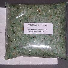 AVENTURINE LIGHT GREEN, 3-5mm tumbled 2 lb bulk xxmini+ stones quartz SAVE 20%