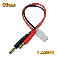 Tamiya Ladekabel Stecker Groß + Kupplung für Lipo Akku 14AWG 30cm RC 2.5 mm² 4mm