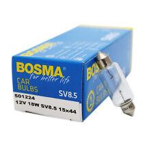 10 x Lampe Birne Bosma SV 8,5 12V 18W 15x44mm Soffitte Kennzeichenleuchte etc.