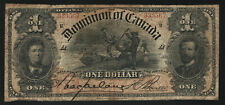 "New ListingDominion of Canada $1 ""Loggers,� 1898 Series R, Circulated"