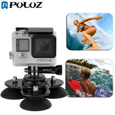 PULUZ Triangle Suction Cup Mount + Screw for GoPro HERO 7/ 6/ 5 /4 /3/2/1