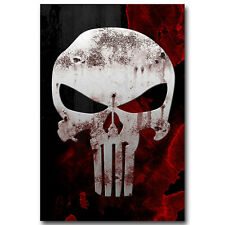 Punisher Skull Art Silk Poster 24x36 inch