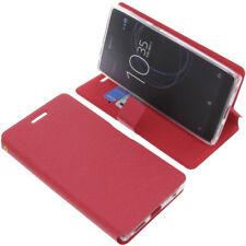 Housse pour Sony Xperia L1 style Livre etui coque étui téléphone rouge