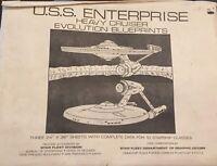 Uss Enterprise, Heavy Cruiser Evolution Blueprints plans 3 24x36 Sheets