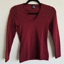 Wolford Merino Wool V Neck Top  Color: Burgandy Size: Extra Small  00009 - 29