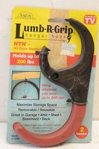 VAL-A Advantage Lumb-R-Grip Hanger Hooks 2 Pack Organize Wall Hang Garage NOS