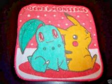 Nintendo Pokemon Pikachu Chiqorita Wash Cloth Place Mat Birthday Decor Bandai