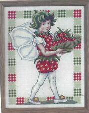 Flower Fairy Summer Strawberry Cross Stitch Pattern (a1bc0b66)