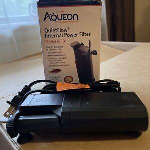 Aqueon QuietFlow AT10 Internal Power Filter for Aquarium up to 10 Gallons NIOB