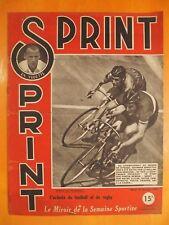 SPRINT N° 48 du 15/10/1946.Vedette H.Hilt-Championnat monde vitesse Dais Derrsen