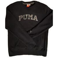 Puma Lifestyle Thick Pullover Fleece Sweatshirt Crewneck Sweater Zip Pockets L