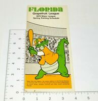 1978 MLB Schedule Florida Grapefruit League Spring Training Baseball Brochure