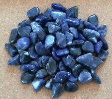 BAG OF 20 SMALL SODALITE TUMBLESTONES BLUE HEALING CRYSTALS 10-15MM
