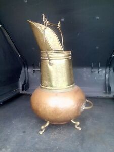 Antique/Vintage Copper Coal scuttle/log basket