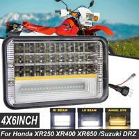 4x6'' CREE LED Headlight Sealed Beam DRL For Honda XR250 XR400 XR650 Suzuki DRZ
