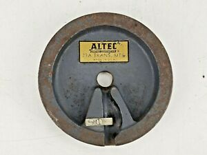 "Vintage Altec 23A Trans MTG Microphone Desk Stand Base 5"" Diameter 1940's 633A"