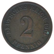 Deutsches Reich, 2 Pfennig 1910 J, A42809