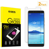 2-Pack Khaos For Alcatel 7 Folio 6062W Tempered Glass Screen Protector