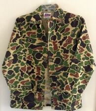 Vietnam War Era Duck Hunter Camo Jacket, Sportmaster Brand, Medium Size