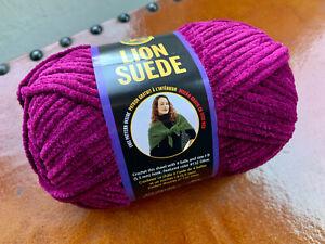 Lion Brand Suede Yarn Taupe Skein
