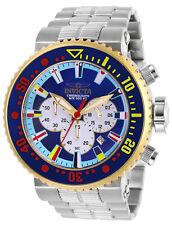 Invicta Men's Watch Pro Diver Chrono Blue and Silver Tone Bezel Bracelet 27661
