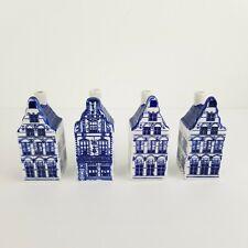 Vintage Delfts Blue Houses LOT 4 Holland