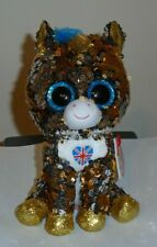 """Ty FLIPPABLES ~ NOBLE the Unicorn (UK Exclusive) 6"""" Beanie Boos 2019 NEW IN HAND"""
