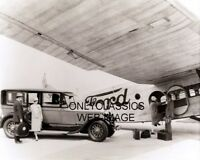 1927 FORD TRI MOTOR AIRPLANE LINCOLN AUTOMOBILE RICH AND PRIVILEGED TRAVEL PHOTO