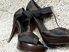Used brown & black Faith super high platform sandals shoes  - Size 7.5