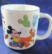 Disney Coffee Mug Donald Minnie Goofy Pluto Ceramic  Japan Disneyland