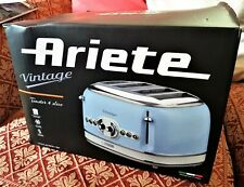 Ariete Vintage 4 Slice Toaster - Blue - NEW