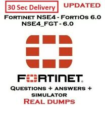 Fortinet NSE 4 - FortiOS 6.0 NSE4_FGT-6.0 Questions & solutions + Simulator