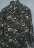 Camo Deer NORTH RIVER OUTFITTERS Long Sleeve Button-Up Shirt, Men's Size L