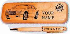 Chrysler 300 Late Model Maple wood Pen & Case Engraved