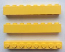 LEGO 3008 Jaune lot de 3 Brique Poutre 1x8 Brick Yellow