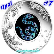 2015 Australia Opal Series #7 Python 1oz Silver Proof  Coin Perth Mint COA & Box