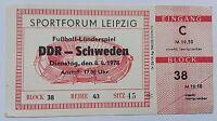 Ticket DDR Schweden FS 4.4.1978 DDR Sverige biljett friendly Eintrittskarte