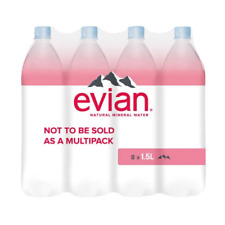 Evian Natural Spring Water 1.5 Litre (Pack of 8) - New + Free Next Day Delivery