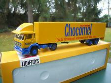 "LION TOYS 1/50 DAF 1900 + SEMI-REMORQUE FOURGON "" CHOCOMEL "" MINT IN BOX"