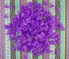 LOOSE ACRYLIC-LUCITE BEADS-FLOWER-FLOWERS-TULIP-PURPLE-40 BEADS-PLUS FREE GIFT